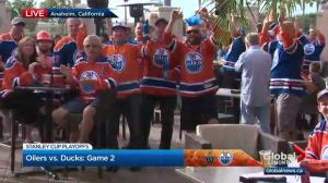 Edmonton Oilers fans in Anaheim fired up ahead of Game 2 against Ducks
